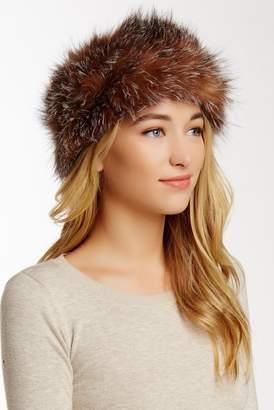 Surell Stretchie Genuine Fox Fur Knit Headwrap/Scarf