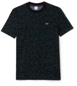 Lacoste Women's LIVE Crew Neck Leopard Print Jersey T-shirt