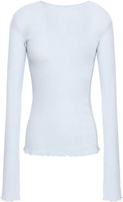 Vince Ribbed-knit Cashmere Top