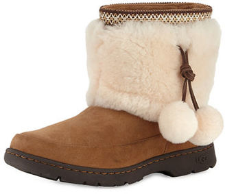 UGG Brie Pompom Shearling Boot $180 thestylecure.com