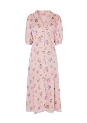 Kitri Siena Pink Floral Tea Dress