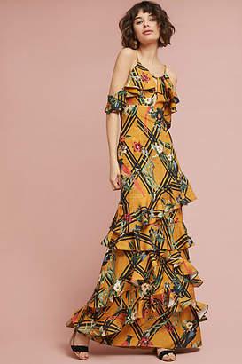 PatBO Sunflower Ruffled Dress