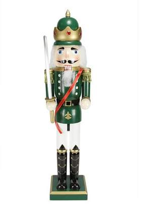 Three Posts Decorative King Wooden Christmas Nutcracker with Sword