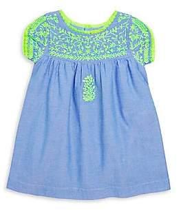 Roller Rabbit Little Girl's& Girl's Embroidered Chambray Dress