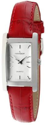 Peugeot Women's 3008RD Rectangular Watch with Leather Band
