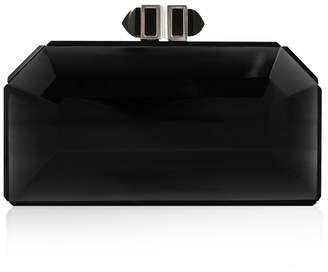 Judith Leiber Couture Faceted Black Box Clutch