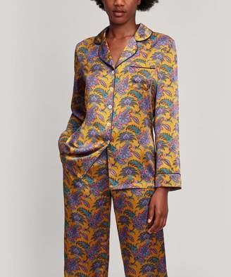 Liberty London Florence Leontine Silk Satin Long Pyjama Set