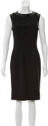 Dolce & Gabbana Virgin Wool Sleeveless Dress