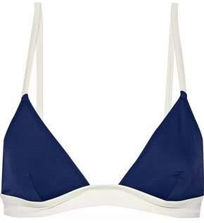 Solid & Striped The Morgan Two-Tone Triangle Bikini Top
