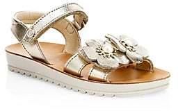 Naturino Little Girl's & Girl's Gavi Embellished Leather Sandals