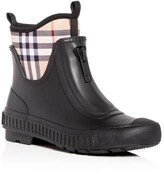 Burberry Women's Flinton Check Rain Booties