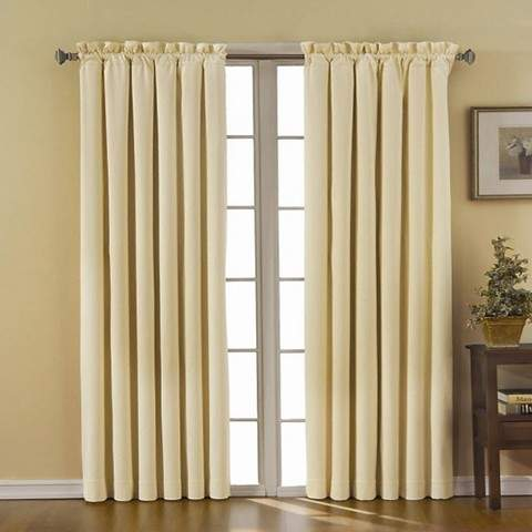 Thermaback Canova Blackout Curtain Panel - Ivory (42