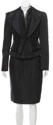 Christian Lacroix Embellished Silk Skirt Suit