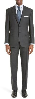 Men's Canali Classic Fit Windowpane Plaid Wool Suit $2,495 thestylecure.com