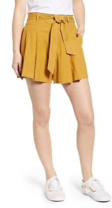 BP High Waist Linen Blend Shorts