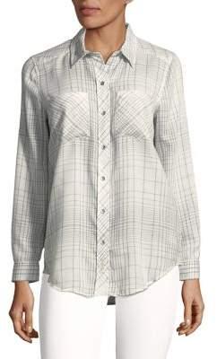 Calvin Klein Jeans Graph Plaid Flannel Shirt