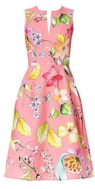 Carolina Herrera Women's Sleeveless A-Line Floral Dress