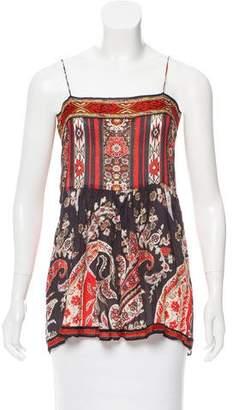 Isabel Marant Sleeveless Floral Print Top