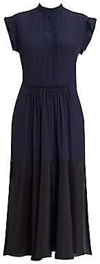 Chloé Women's Two-Tone Silk Shirtdress