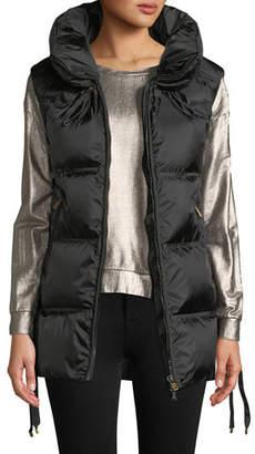 Bogner Dorea Wide Down-Filled Vest w/ Lace-Up Sides