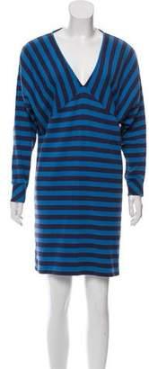 Marc by Marc Jacobs Striped Mini Long Sleeve Dress