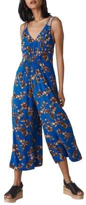 Whistles Armelle Capri Print Jumpsuit