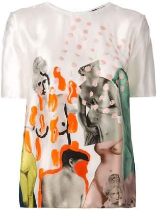 Marni printed satin blouse
