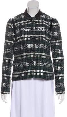 Tory Burch Tweed Cropped Blazer