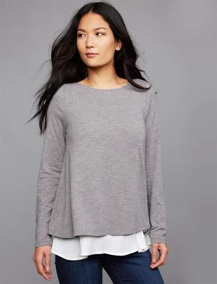A Pea in the Pod Pull Over Back Interest Nursing Top