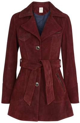Free People Agent 99 Bordeaux Suede Jacket