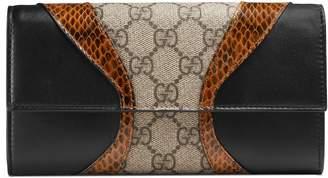 Gucci Osiride GG Supreme continental wallet
