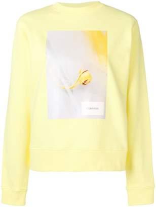 Calvin Klein floral print sweatshirt