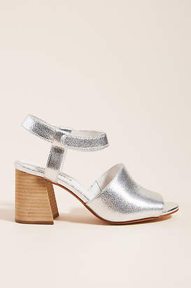 Jeffrey Campbell Metallic Block-Heeled Sandals