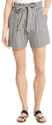 Karen Kane Paperbag Waist Gingham Shorts