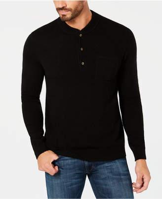 Tasso Elba Men's Cashmere Henley Sweater