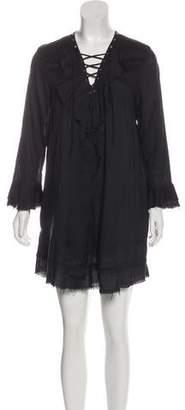 IRO Florine Lace-Up Mini Dress