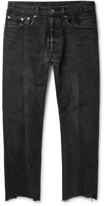 Vetements + Levi's Slim-Fit Panelled Denim Jeans