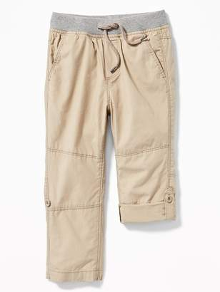 Old Navy Rib-Waist Poplin Roll-Up Pants for Toddler Boys