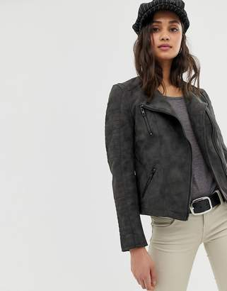 Only Cava faux leather biker jacket