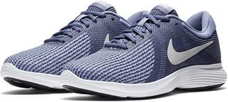 Nike Women's Revolution 4 Blue Recall/Pure Platinum Running Shoe 6.5 Women US