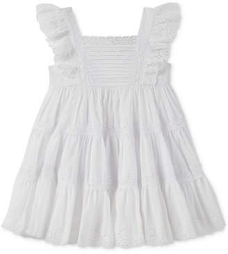 Calvin Klein Crochet & Eyelet Dress, Little Girls