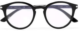 Cartier Eyewear Round-frame Acetate Optical Glasses