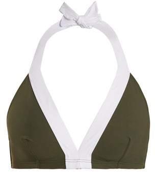 Diane von Furstenberg Banded Soft Cup Bikini Top - Womens - Khaki White