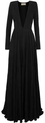 Alexandre Vauthier Asymmetric Twill Gown - Black