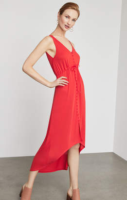 BCBGMAXAZRIA Button Front High-Low Dress