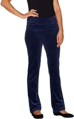 Denim & Co. Petite Smooth Waist Stretch Corduroy Pull-on Pants