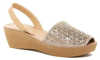 Kenneth Cole Reaction Fine Glass Laser-Cut Platform Sandal