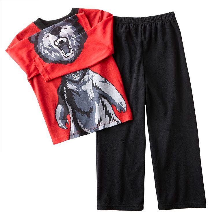 Bear jammin' jaws pajama set - boys 4-20