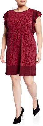 MICHAEL Michael Kors Size Flutter-Sleeve Shift Dress