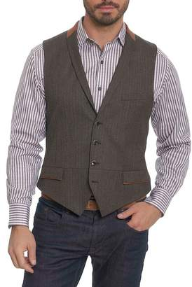 Robert Graham Grenville Herringbone Wool Vest